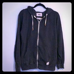 Vans Charcoal Colored ZIP-hoodie